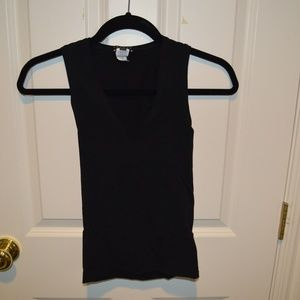 Theory Black Tank Top (One Size Fits Most)
